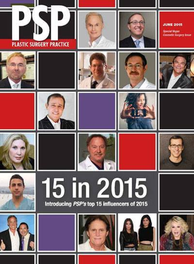 Dr. Waldman - Top 15 Influencers of 2015 - Plastic Surgery Practice Magazine